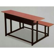 میز و نیمکت سه نفره مدرسه ساده