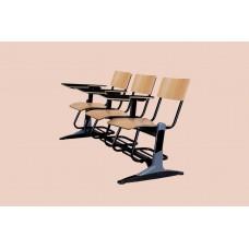 صندلی دانشجویی mdf سه نفره